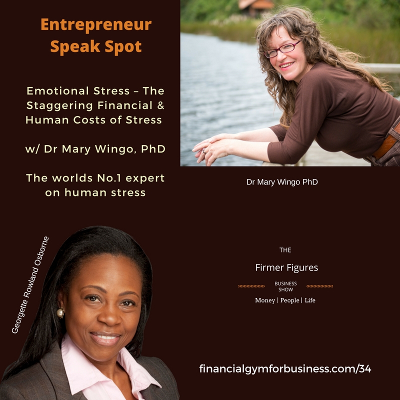 FFS34:Emotional Stress – The Staggering Financial & Human Costs of Stress w/ Mary Wingo, PhD
